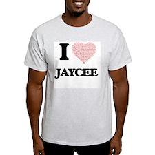 I love Jaycee (heart made from words) desi T-Shirt