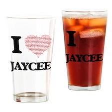 I love Jaycee (heart made from word Drinking Glass