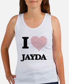I love Jayda (heart made from words) desi Tank Top
