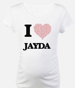 I love Jayda (heart made from wo Shirt