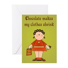 Chocolate Greeting Cards (Pk of 20)