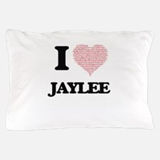 I love Jaylee (heart made from words) Pillow Case