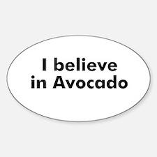 I believe in Avocado Oval Decal
