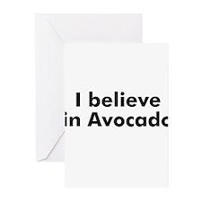 I believe in Avocado Greeting Cards (Pk of 10)