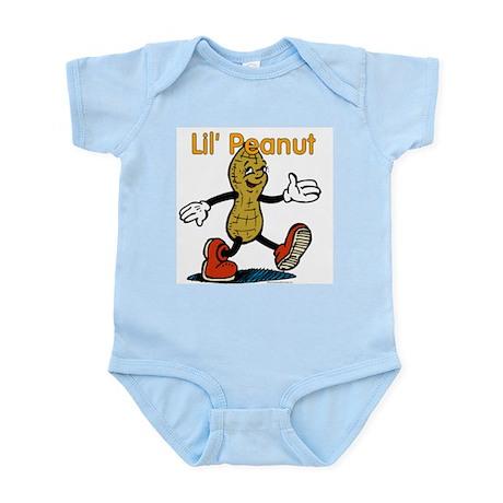 Lil Peanut Blue Infant Bodysuit