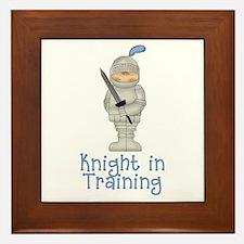 Knight in Training Framed Tile