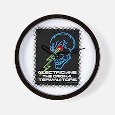 Electrician Terminator Wall Clock