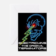 Electrician Terminator Greeting Cards (Package of