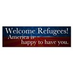 Welcome Refugees Bumper Sticker
