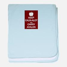 Keep Calm-Alot and Carry Avalon baby blanket