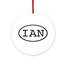 IAN Oval Ornament (Round)