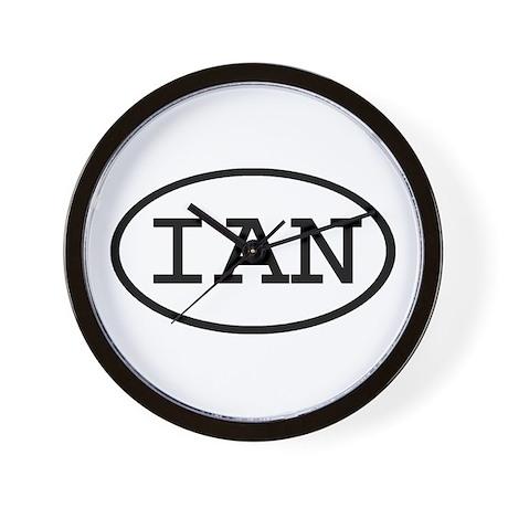 IAN Oval Wall Clock