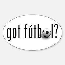 got futbol? Oval Decal