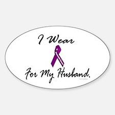 I Wear Purple 1 (Husband PC) Oval Decal