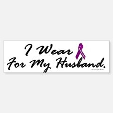 I Wear Purple 1 (Husband PC) Bumper Bumper Bumper Sticker