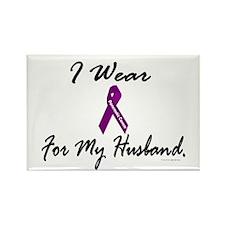 I Wear Purple 1 (Husband PC) Rectangle Magnet