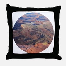 Unique Red sunrise Throw Pillow