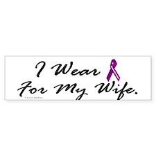 I Wear Purple 1 (Wife PC) Bumper Bumper Sticker