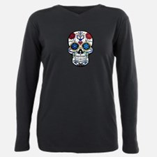Skull Plus Size Long Sleeve Tee