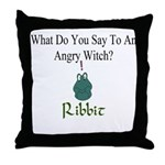 Angry Witch Throw Pillow
