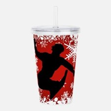 SNOWBOARDING (Red) Acrylic Double-wall Tumbler