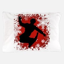 SNOWBOARDING (Red) Pillow Case