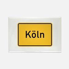 Cologne Roadmarker, Germany Rectangle Magnet
