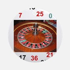 Casino roulette gaming wheel with n Round Ornament