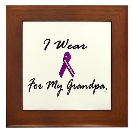 I Wear Purple 1 (Grandpa PC) Framed Tile