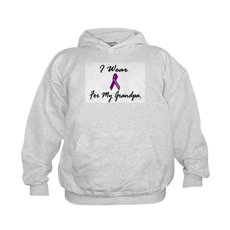 I Wear Purple 1 (Grandpa PC) Kids Hoodie