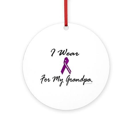 I Wear Purple 1 (Grandpa PC) Ornament (Round)