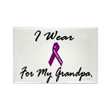 I Wear Purple 1 (Grandpa PC) Rectangle Magnet