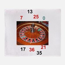 Casino roulette gaming wheel with nu Throw Blanket