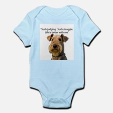 Non Judging Non struggling Airedale Terr Body Suit