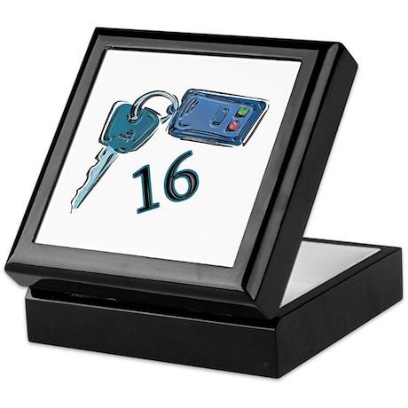 16th Birthday keys Keepsake Box