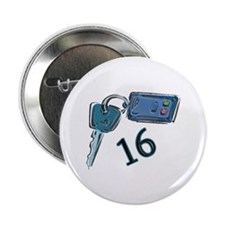 16th Birthday keys Button