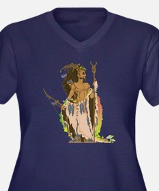 Cernunnos Women's Plus Size V-Neck Dark T-Shirt