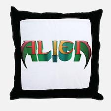 """Alien"" Colours 4 Throw Pillow"