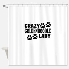 Crazy Goldendoodle Lady Shower Curtain