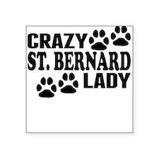 Crazy St. Bernard Lady Sticker