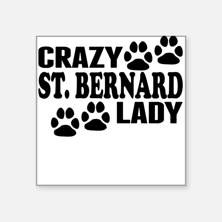 Crazy St. Bernard Lady Sticker