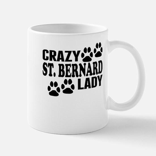 Crazy St. Bernard Lady Mugs