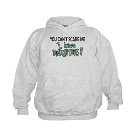 You Can't Scare Me - Daughter Revised Kids Hoodie