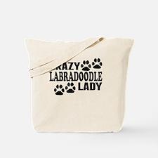 Crazy Labradoodle Lady Tote Bag