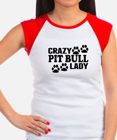 Crazy Pit Bull Lady T-Shirt