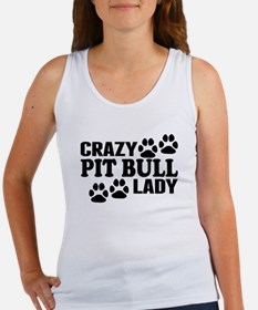 Crazy Pit Bull Lady Tank Top