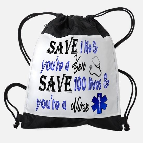 Nurse, Save Drawstring Bag