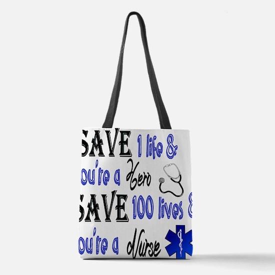 Nurse, Save Polyester Tote Bag