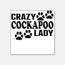 Crazy Cockapoo Lady Sticker