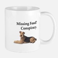 Airedale Declares that missing food is just a Mugs